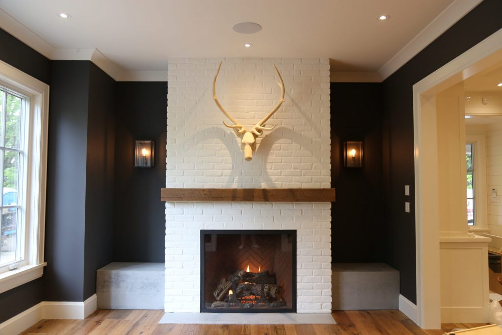 Interior Fireplace by Neven Custom Homes Ltd.